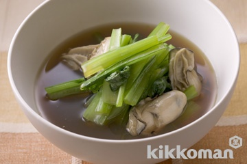 小松菜とかきのさっと煮