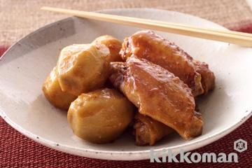 鶏手羽と里芋のしょうゆ煮