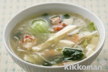 かにの中華風スープ