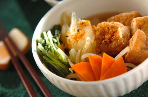 厚揚げと野菜の煮物