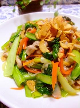 ❤豚肉と小松菜の塩だれ中華風肉野菜炒め❤
