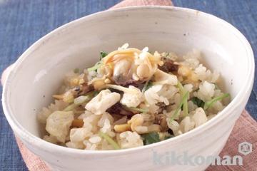 あさりと豆腐の炊き込みご飯