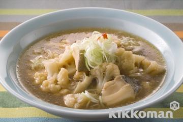 カリフラワーとたらの中華風スープ煮