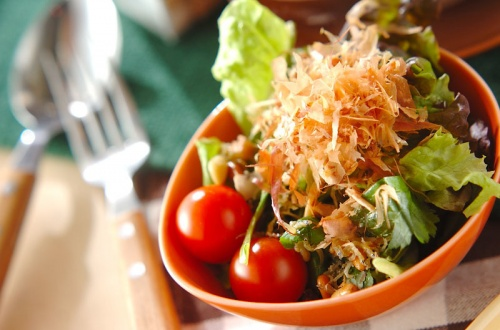 ミツバのカリカリジャコサラダ
