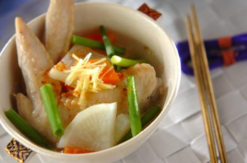 手羽先のスープ