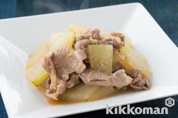 とうがんと豚肉の炒め煮