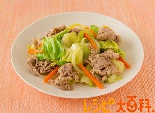 豚肉とキャベツの簡単コンソメ炒め
