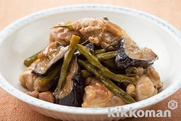 鶏肉となすの炒め煮