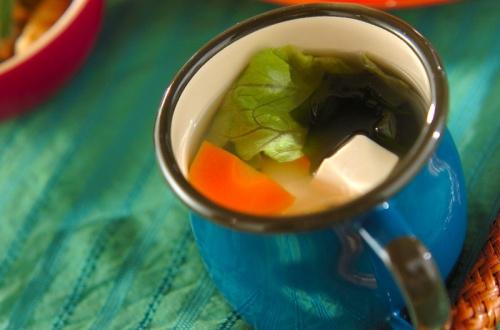 レタスのヘルシースープ