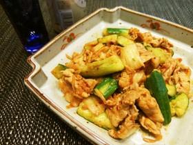 ビールに♡胡瓜と豚肉のスタミナキムチ炒め