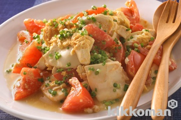 豆腐とトマトの卵炒め