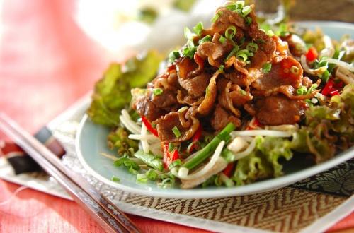 ラムと野菜の炒め物