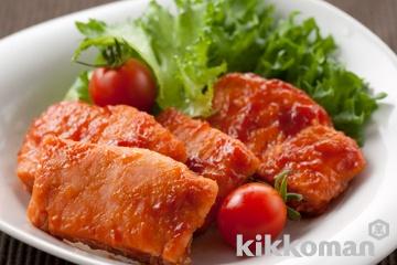 鮭のケチャップ照り焼き