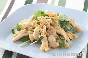 鶏肉と卵の親子炒め