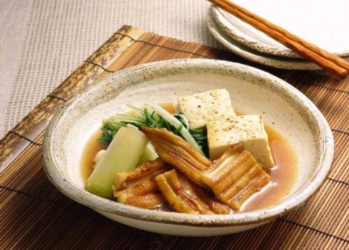 焼き穴子と豆腐の炊き合わせ