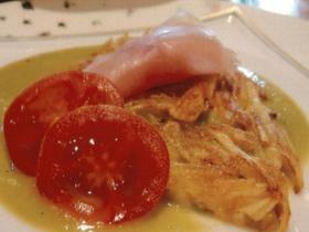 筍と新ジャガのパイヤッソン・グリーンピースソース