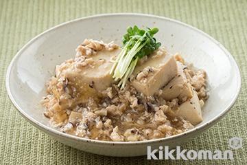 高野豆腐のそぼろ煮