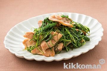 おかひじきと豚肉の炒め物