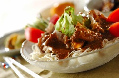 豚しゃぶのサラダ素麺
