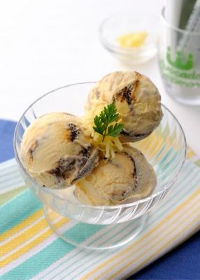 キャラメルと生姜のアイスクリーム