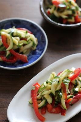 味噌もみ夏野菜のレモンオリーブマリネ。