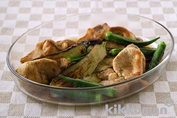 豚肉と夏野菜の焼き漬け