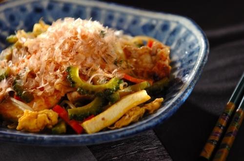 ゴーヤと豆腐のチャンプルー