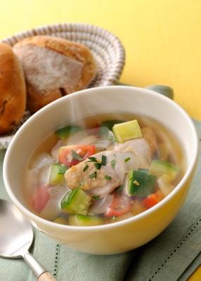 チキンとズッキーニの香りスープ