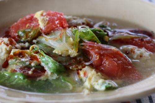 野菜いっぱいのはるさめスープ