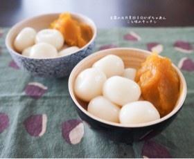 豆腐のお月見団子☆かぼちゃあん
