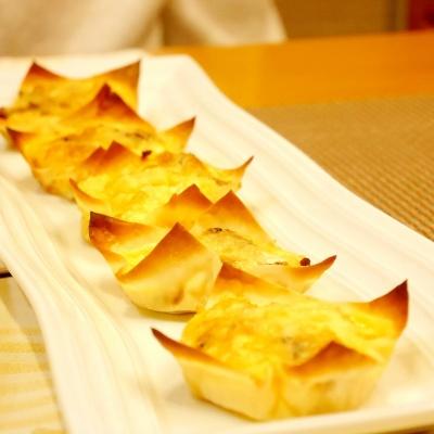 焼売の皮で★トースターで簡単キッシュ風 レシピ・作り方