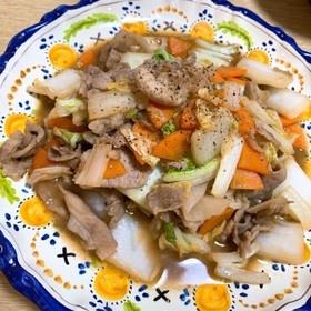 白菜と豚こまの炒めもの