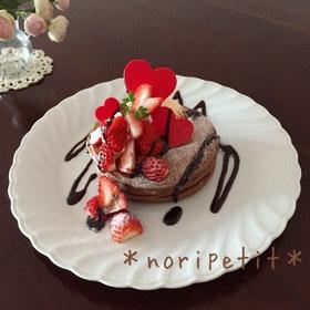 簡単♡ふわふわ♡チョコレートパンケーキ