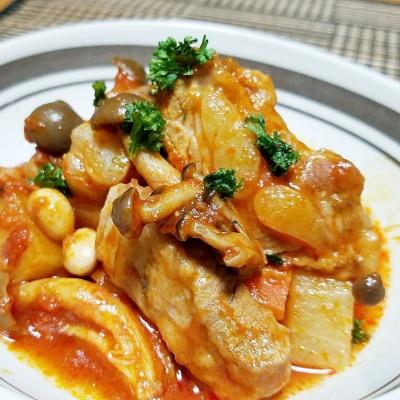 炊飯器で超柔らか♡スペアリブと大根のトマト煮込み レシピ・作り方