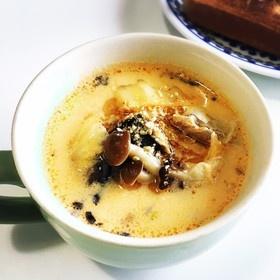 鯖とキムチの豆乳スープ
