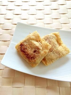 ネギ入り♪油揚げの納豆詰め焼き✿ レシピ・作り方