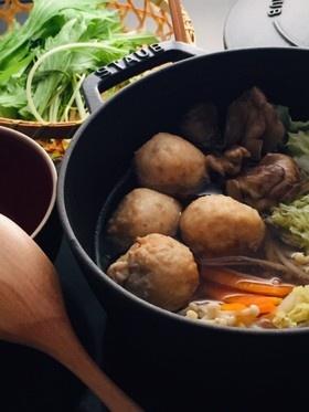 冬至 簡単 水炊き風 鶏団子 柚子胡椒鍋