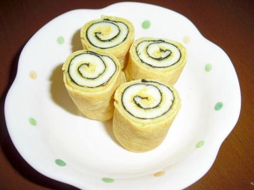"""卵1個でOK♪我が家の""""くるくる海苔チーズ卵焼き"""" レシピ・作り方"""