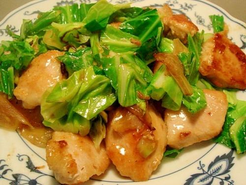 鶏むね肉と春キャベツのポン酢炒め レシピ・作り方