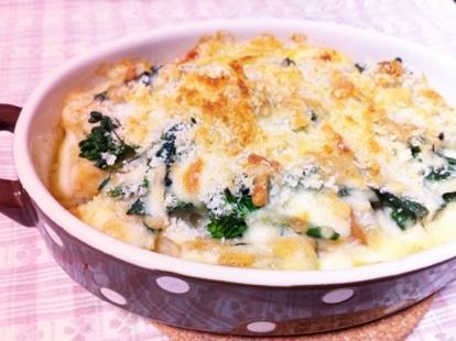 菜の花の豆乳グラタン レシピ・作り方