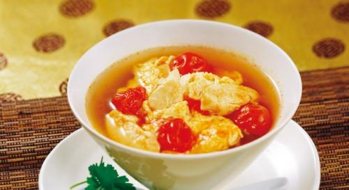 鶏ささ身とトマトのチャイニーズスープ