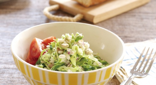 春キャベツと押し麦のサラダ
