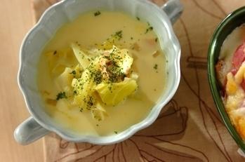 春キャベツのカレークリームスープ