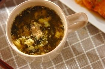 高菜の漬け物スープ