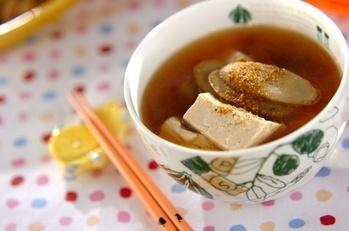 ゴボウと豆腐の雷汁