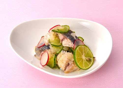 【親子レシピ】焼き鯵ときゅうりのおろし和え