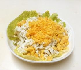 塩こぶと白菜の芯のマヨソテーミモザ風