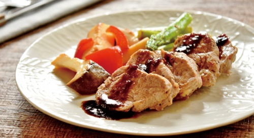 豚ヒレ肉の梅バルサミコソース
