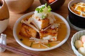 簡単♪厚揚げの揚げ出し豆腐風