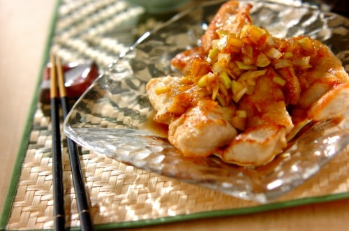 鶏むね肉の唐揚げ風~甘酢ソース~